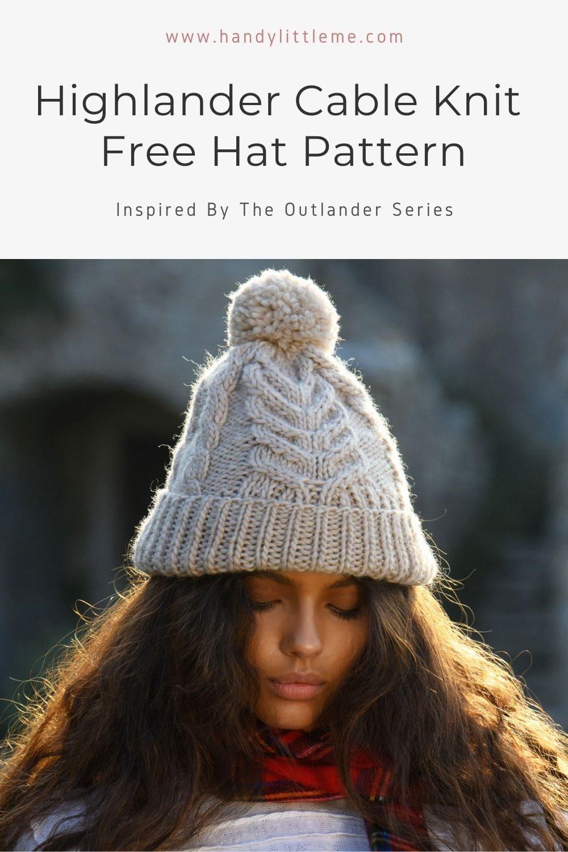 Highlander cable knit hat