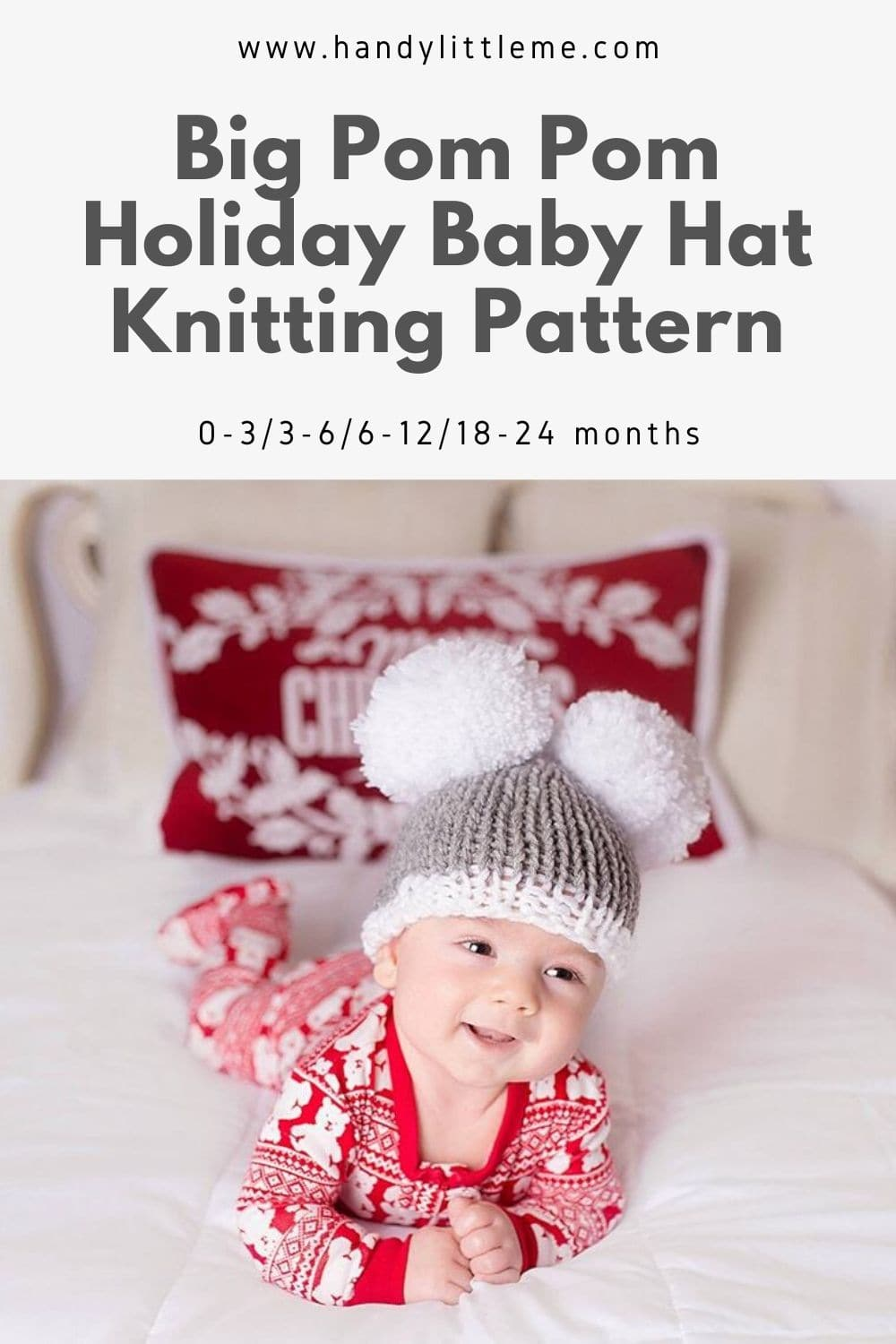 Holiday baby hat knitting pattern