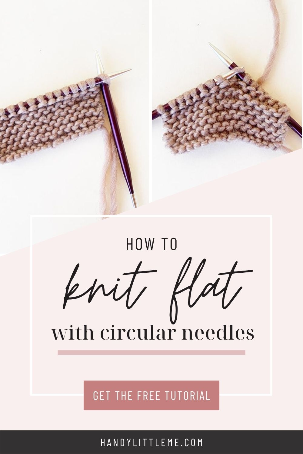 How to knit flat with circular needles