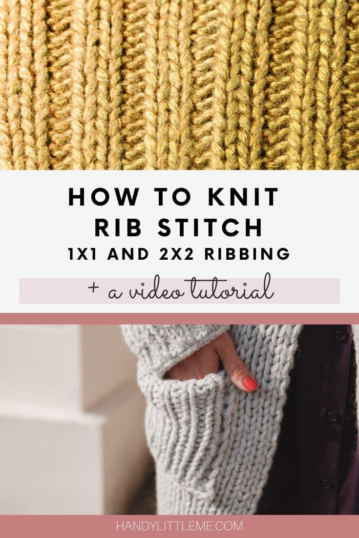 How to knit rib stitch