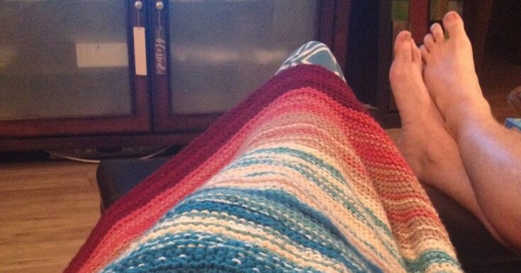 Knitted Temperature Blanket [Free Pattern]