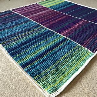 Tunisian Temperature Blanket pattern by Nona Davenport
