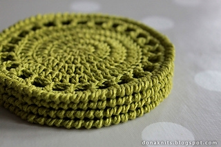 Citrus Coaster Pattern By Dona Knits