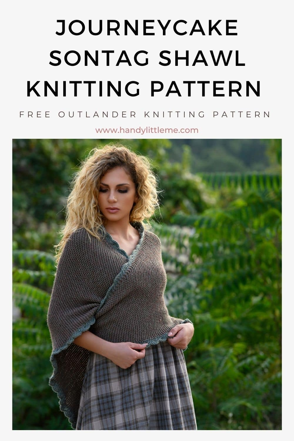 Journeycake sontag shawl knitting pattern