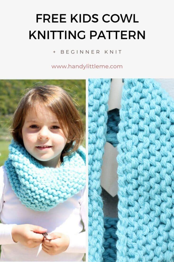 Kids Cowl Free Knitting Pattern