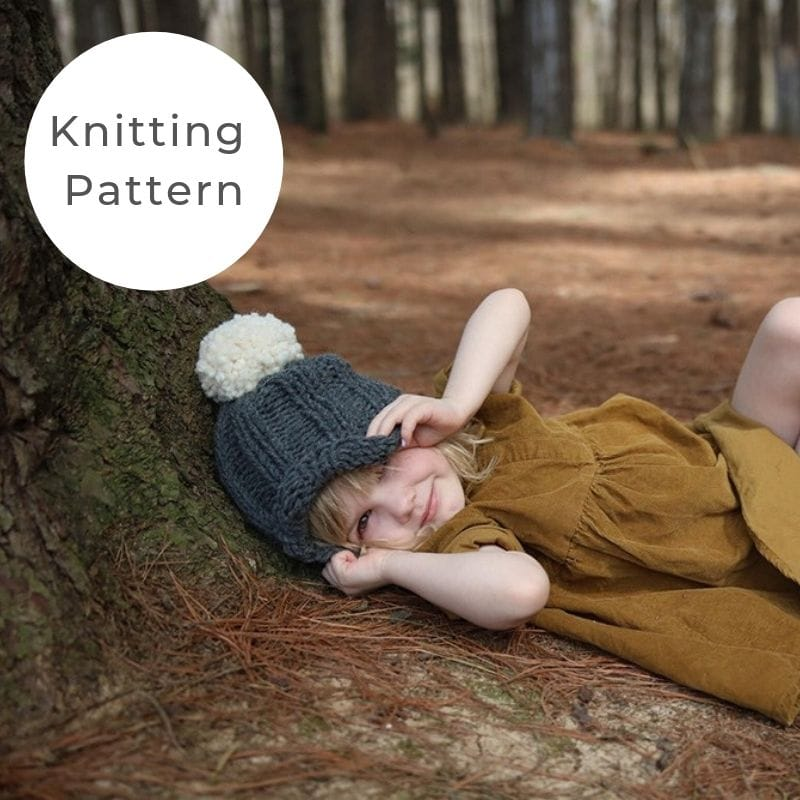 Kids hat knitting pattern
