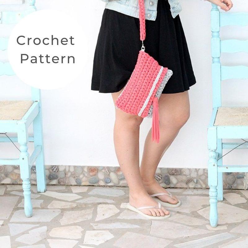 Crochet clutch bag pattern