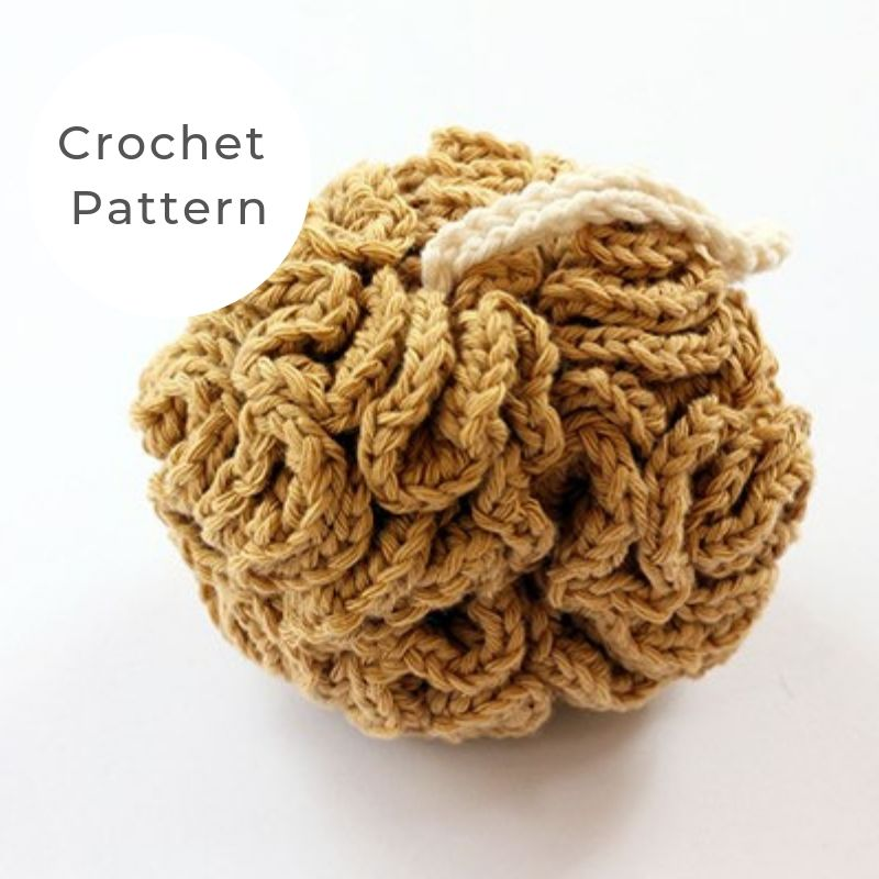 shower puff crochet pattern