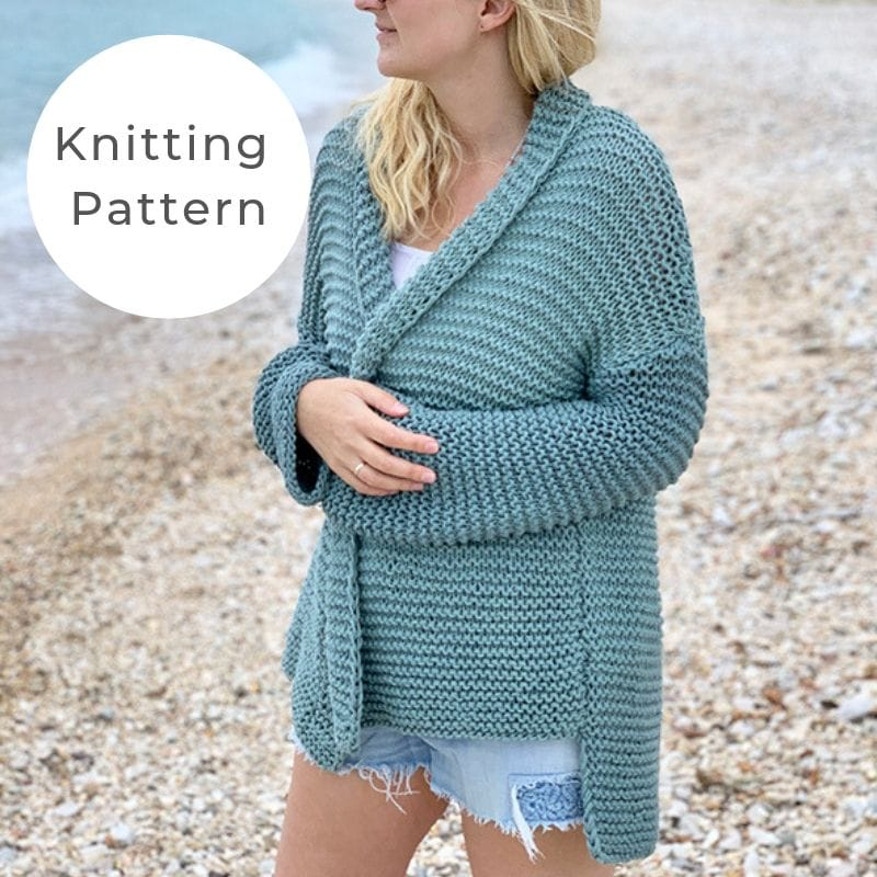 garter stitch oversized sweater