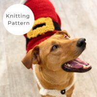 Santa Claus Dog Sweater Pattern PDF