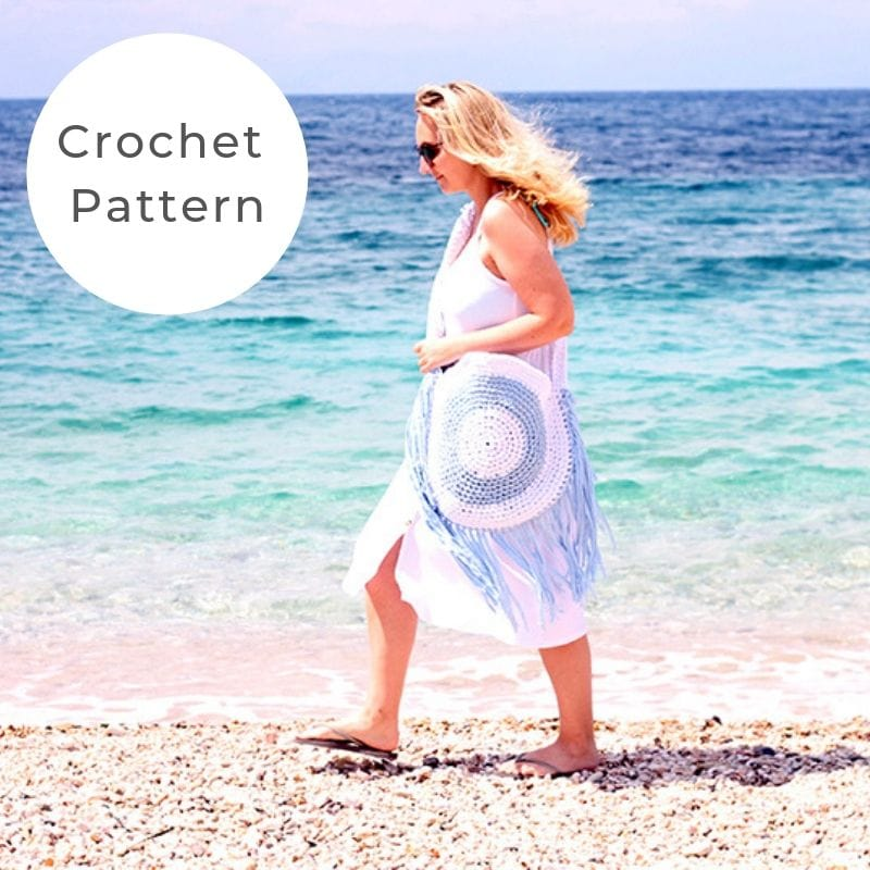 Crochet circle beach bag pattern