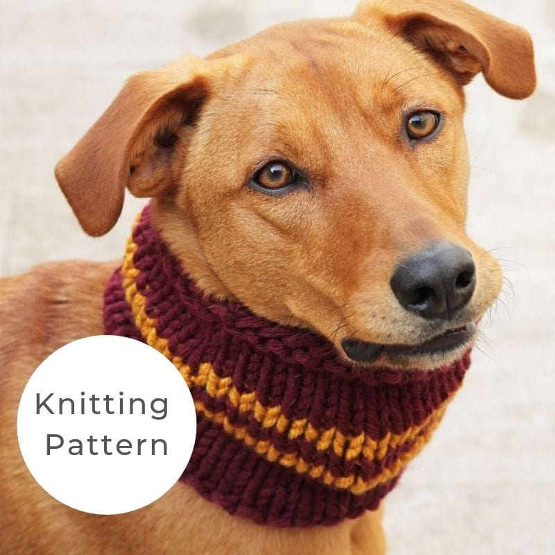 Dog cowl pattern