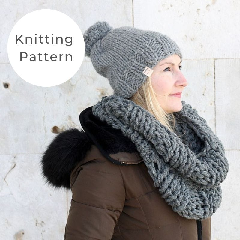 Hat and Scarf Knitting Pattern