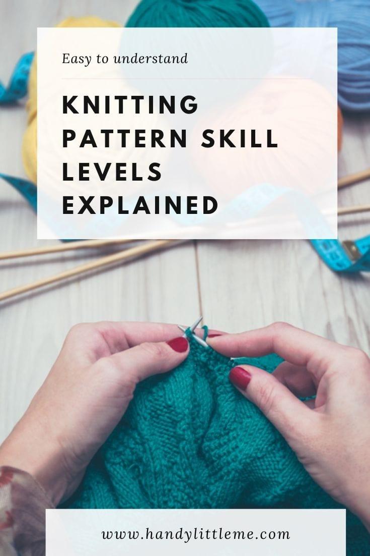 Knitting patterns skill levels