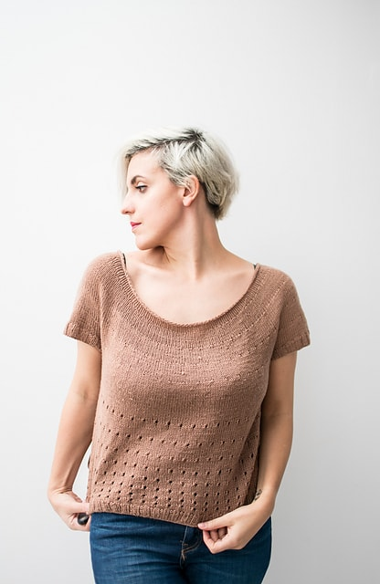 top knit with superfine weight yarn
