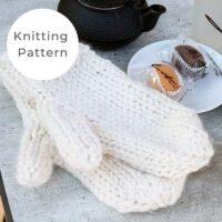Easy Mittens Knitting Pattern PDF