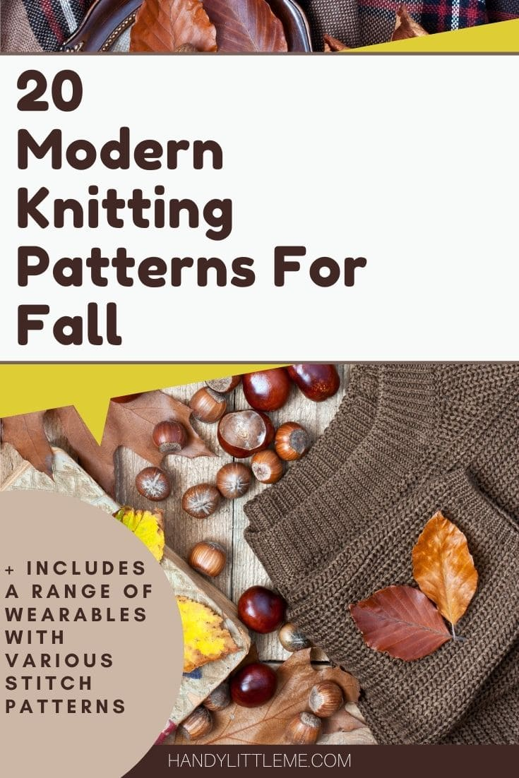 Modern knitting patterns for fall