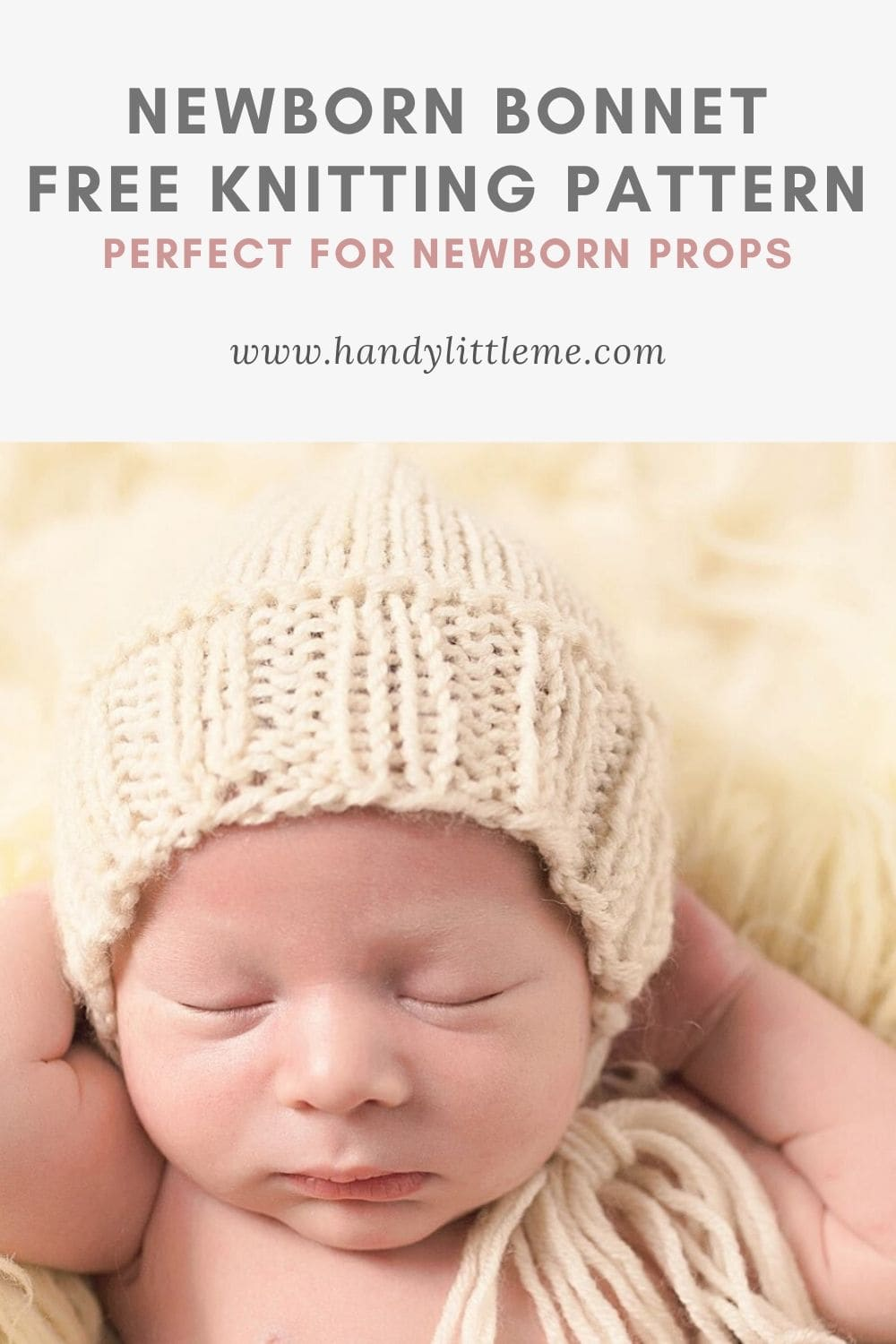 Newborn bonnet knitting pattern