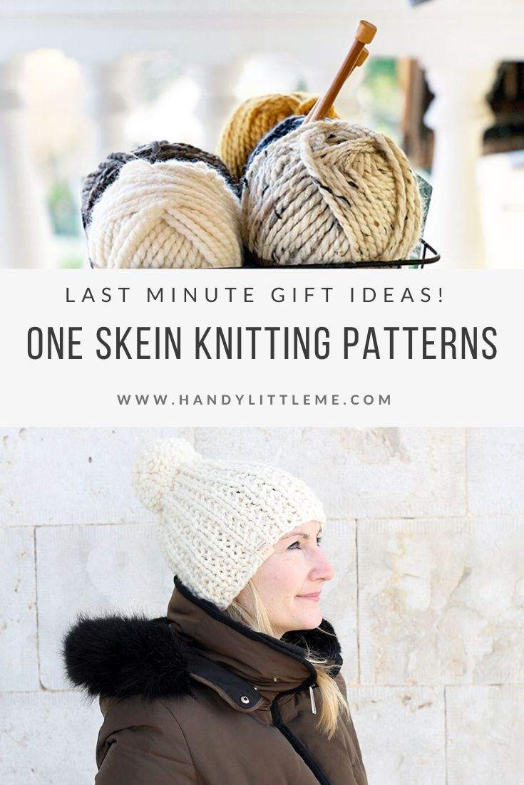 One skein knitting projects for last minute gifts