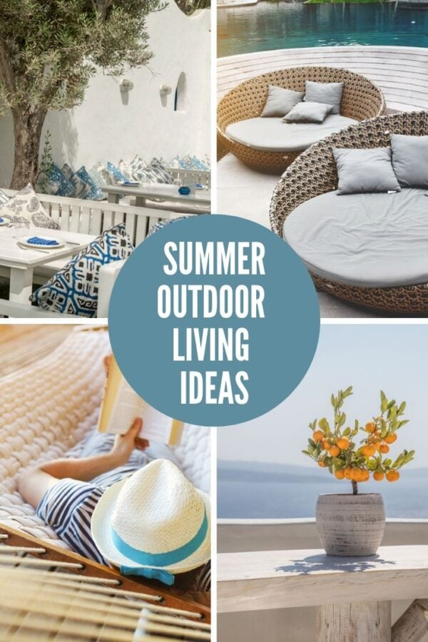 ideas for outdoor living in a collage