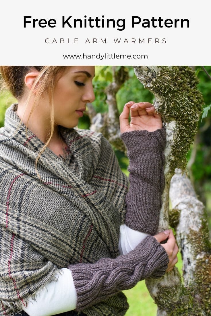 Outlander Claire cable knit arm warmers pattern