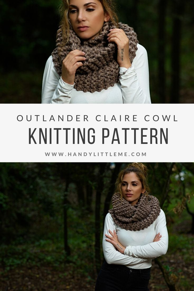 Outlander Clare cowl knitting pattern