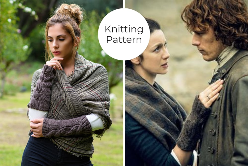 Outlander cable knit arm warmers