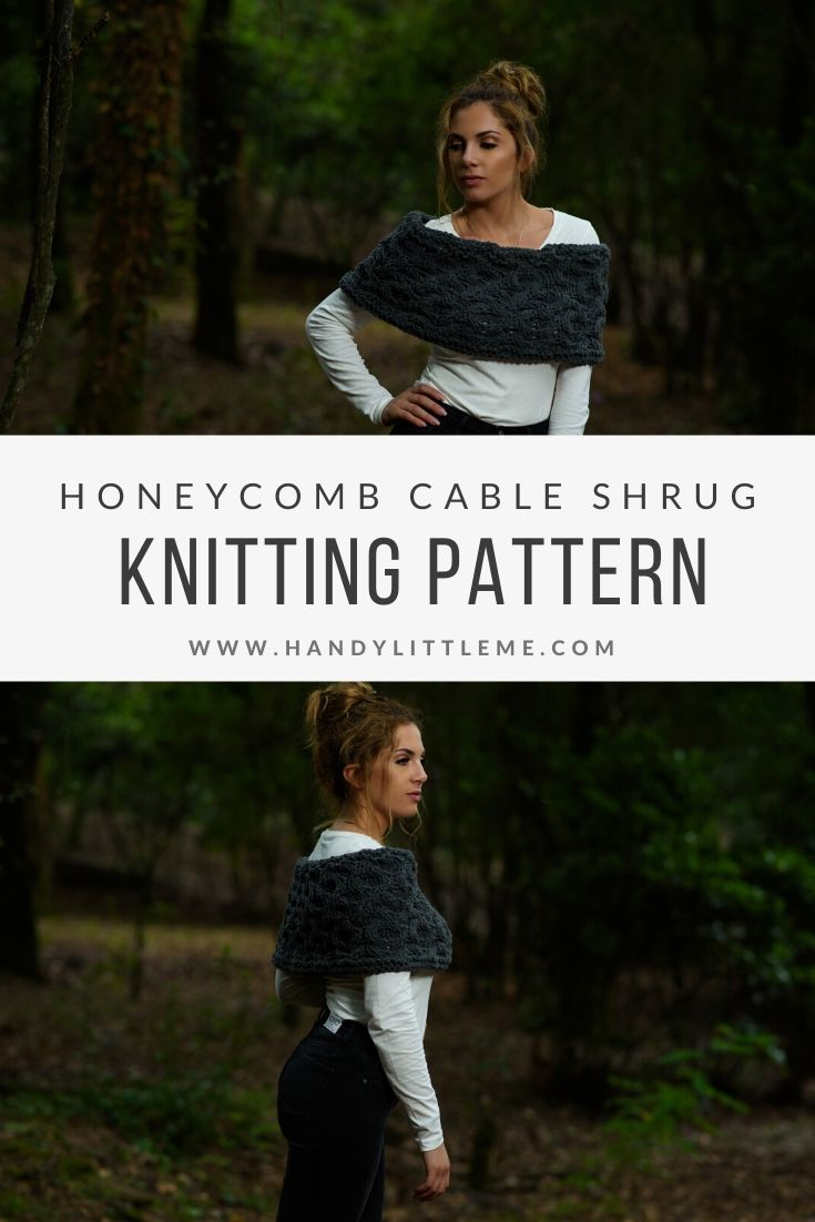 Outlander cable shrug knitting pattern