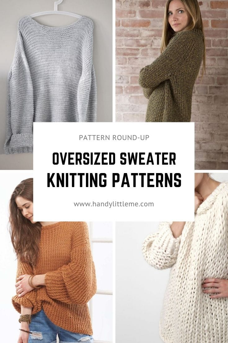 Oversized sweater knitting patterns