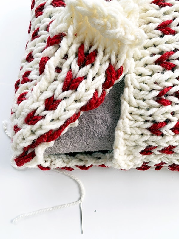 Christmas pillow step by step