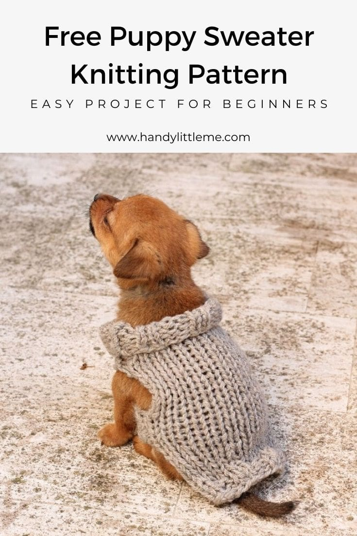 Puppy sweater knitting pattern