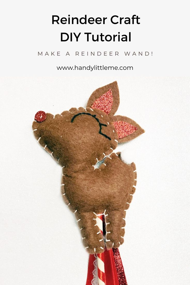 Reindeer craft DIY tutorial