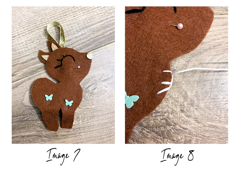 Reindeer craft step 5