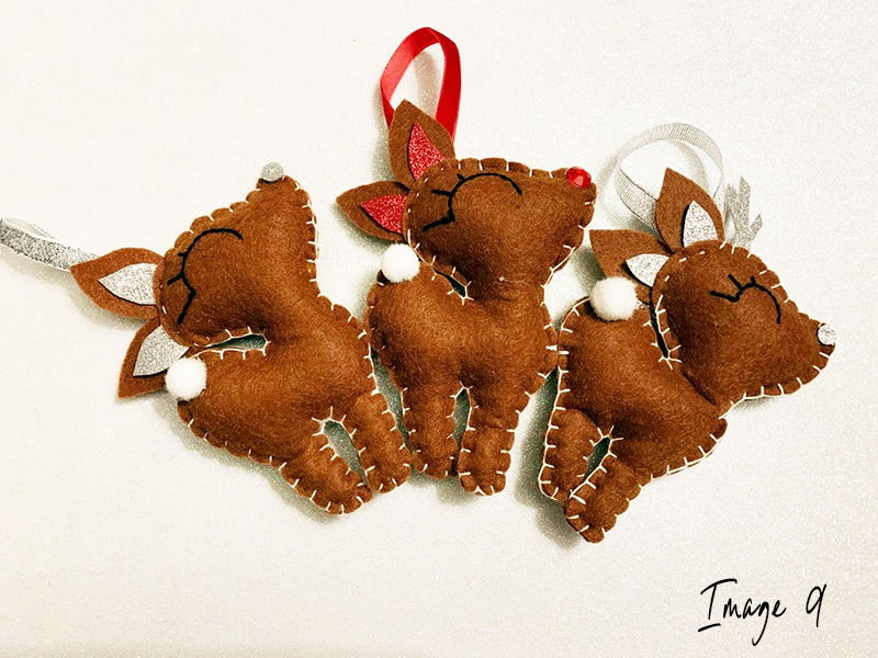 Reindeer craft step 6