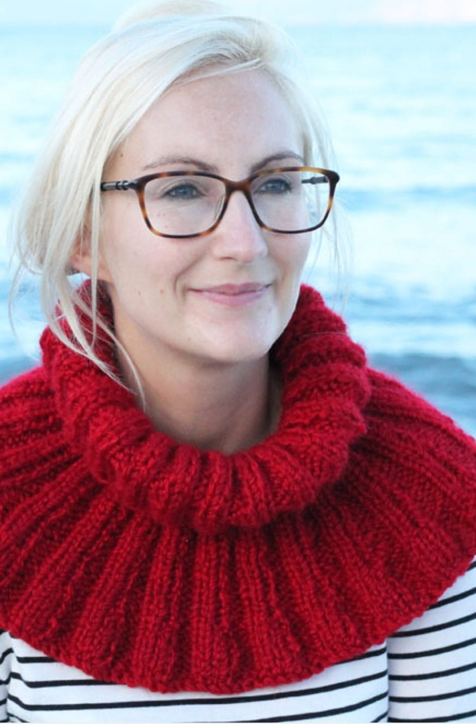 Ribbed cowl pattern