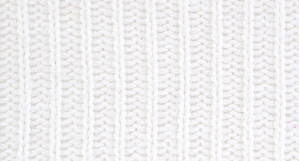 Ribbed white knitting