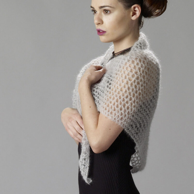 knitted lace weight shawl