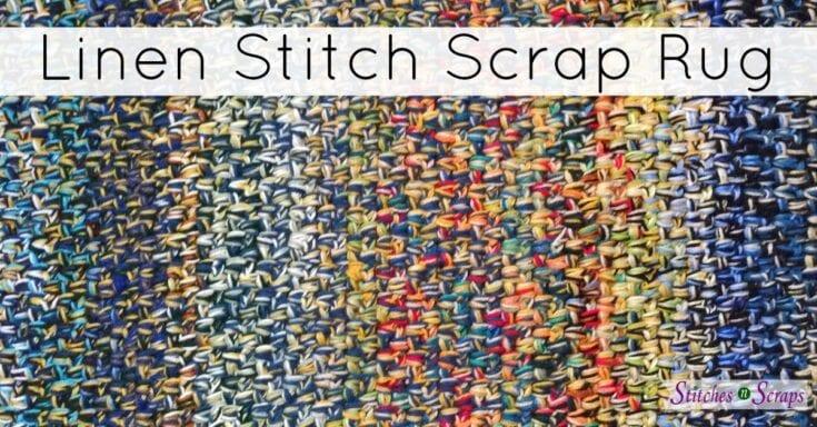 Free Pattern – Linen Stitch Scrap Rug