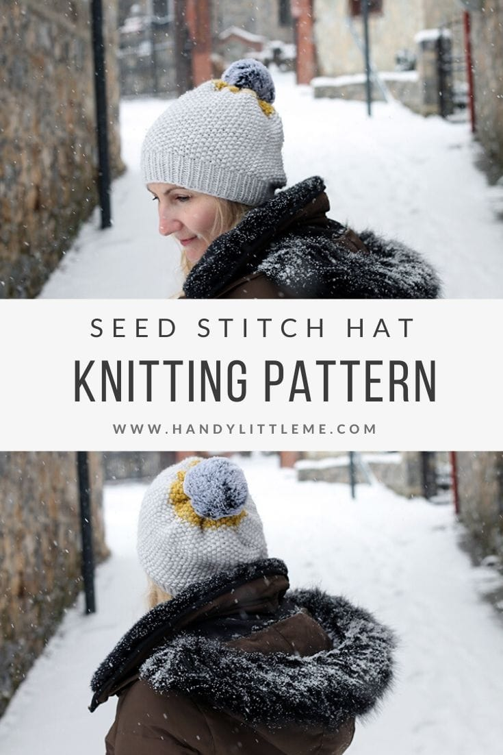 Seed stitch hat knitting pattern free