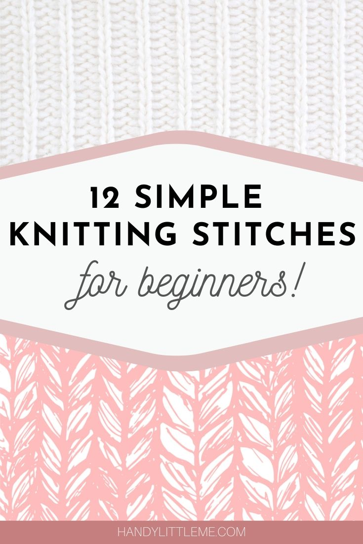 Simple knitting stitches for beginners