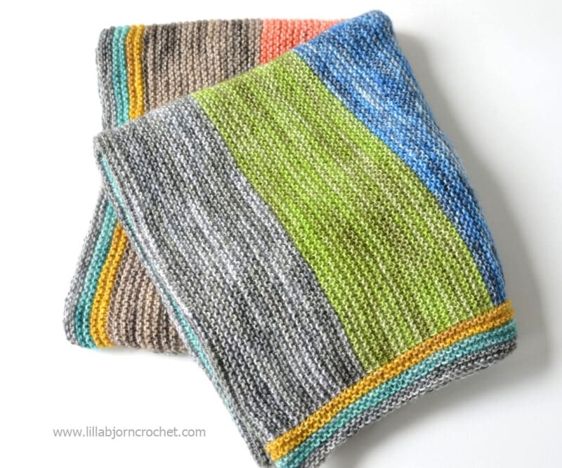 baby blanket knit with superfine weight yarn