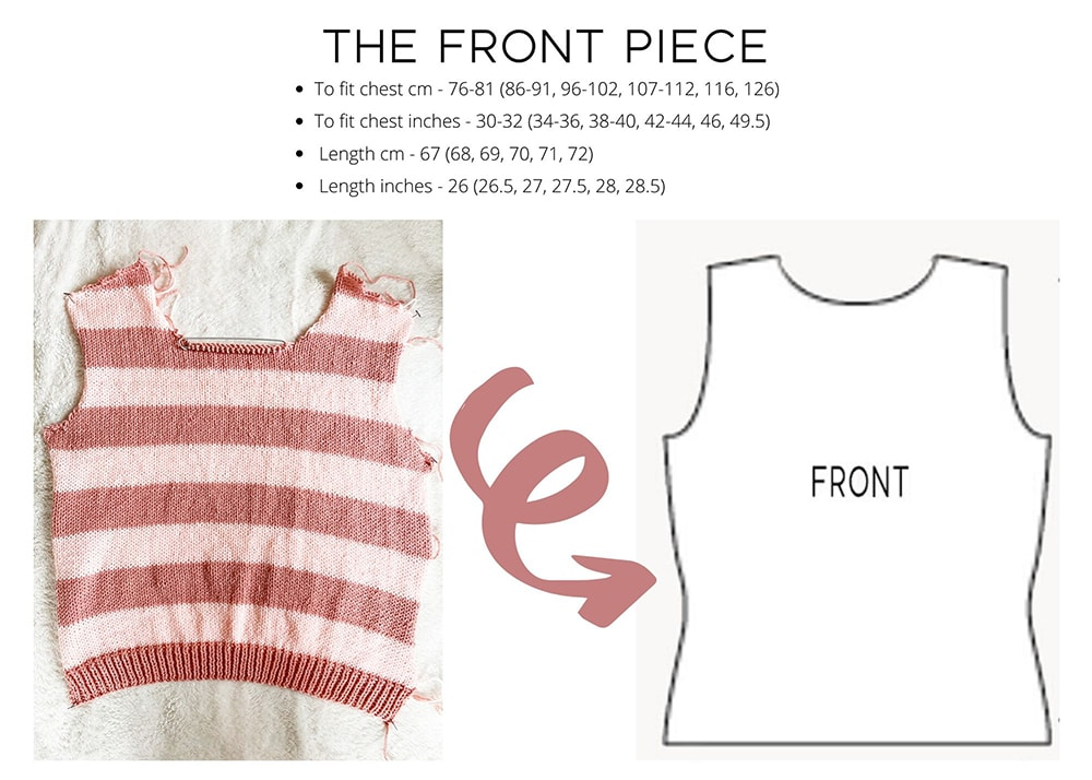 Striped sweater front piece
