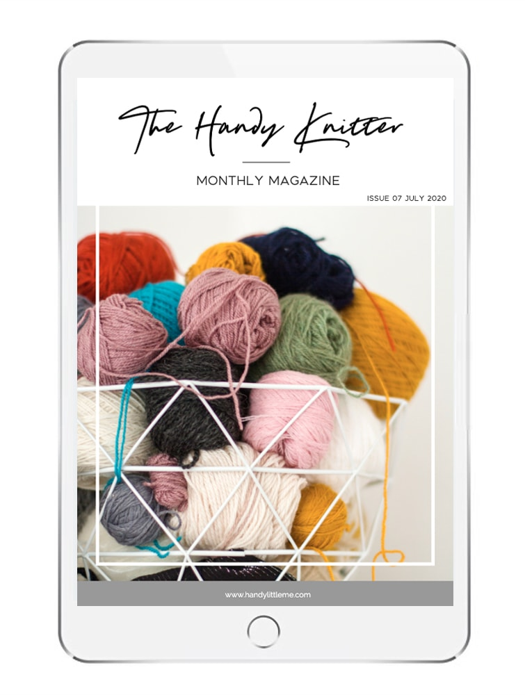 The handy knitter on an ipad