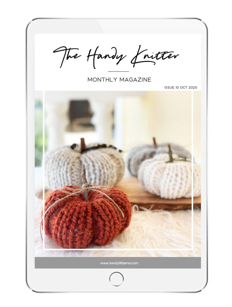The handy knitter magazine on an ipad
