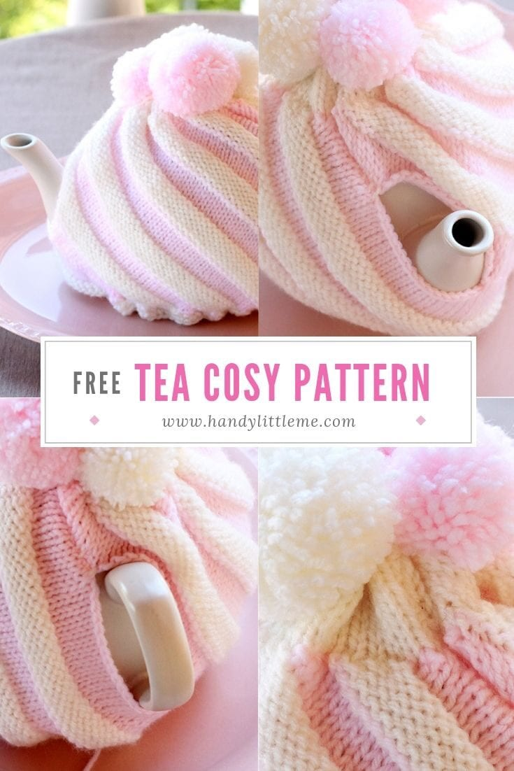 Ice Cream Swirl Tea Cozy Free Knitting Pattern