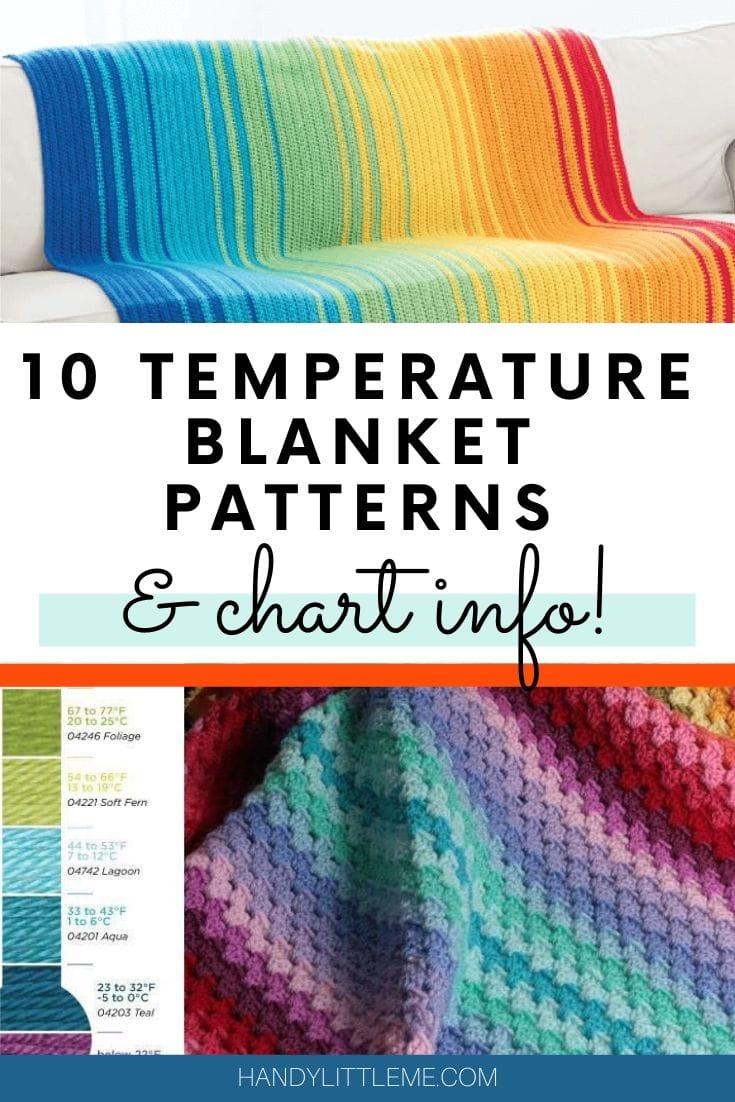 Temperature blanket patterns