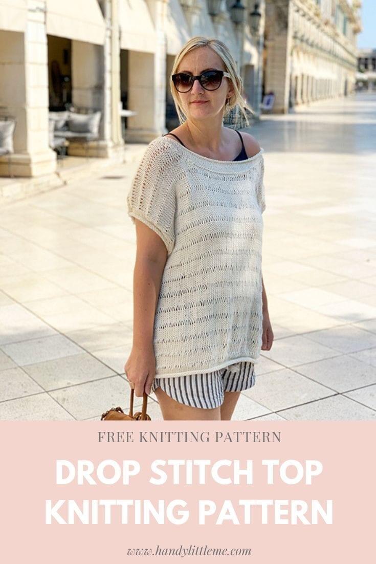 Drop Stitch Top Knitting Pattern