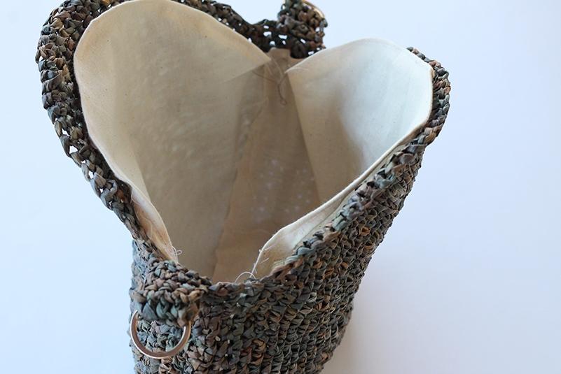 bag lining for a crochet circle bag