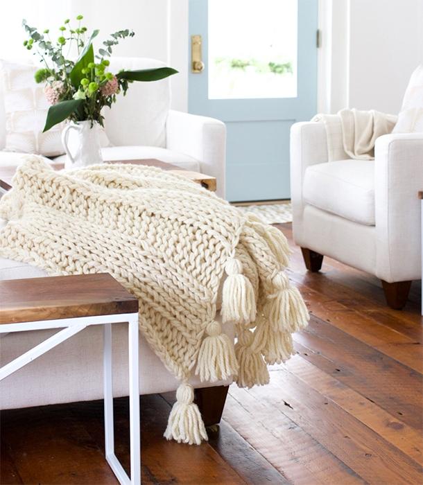 easy knit chunky blanket