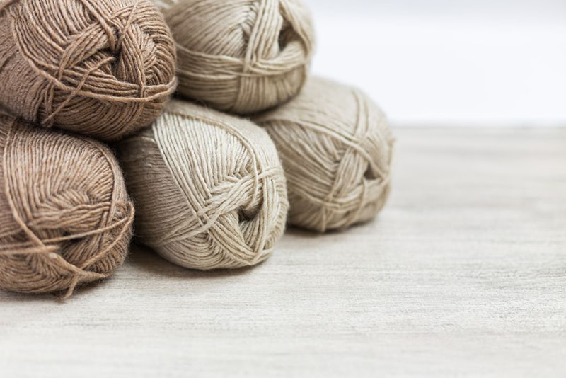 brown textured yarns